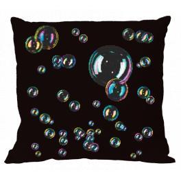 W 10684-01 Cross stitch pattern PDF - Cushion with soap bubbles