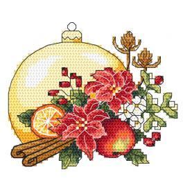 GC 10344-01 Printed cross stitch pattern - Christmas composition with a Christmas ball