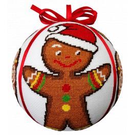 ZU 10687 Cross stitch kit - Gingerbread Christmas ball