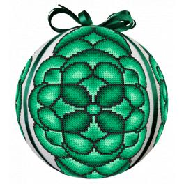 GU 10686 Printed cross stitch pattern - Green Christmas ball