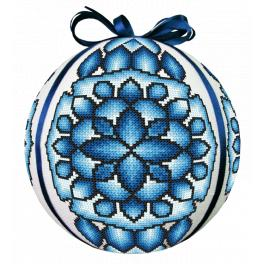 W 10685 Cross stitch pattern PDF - Blue Christmas ball