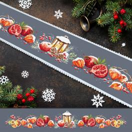 W 10478 Cross stitch pattern PDF - Long table runner with bellows