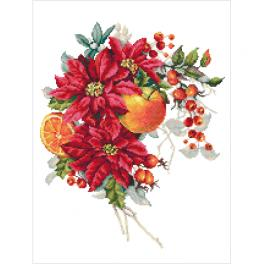 GC 10345 Printed cross stitch pattern - Christmas composition