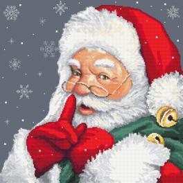 K 10477 Tapestry canvas - Mischievous Santa Claus
