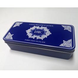 BOX2 Pudełko na mulinę DMC blue