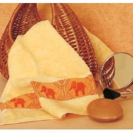 GC 4573 Towel with elephants - Cross Stitch pattern