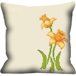 Pillow- Yellow flowers - Cross Stitch pattern