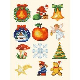 Christmas accessories - Cross Stitch pattern