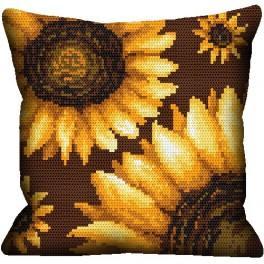 Pillow- Sunflowers - Cross Stitch pattern