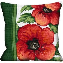 Pillow- Poppies - Cross Stitch pattern