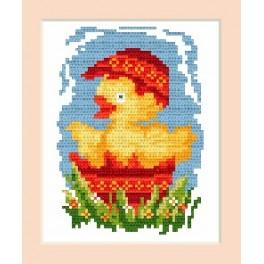 Easter postcard - Cross Stitch pattern