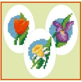 Embroidered easter eggs - Cross Stitch pattern