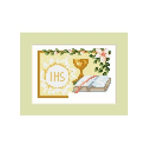GC 4602-01 Invitation on holy communion - Cross Stitch pattern
