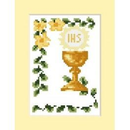 GC 4602-02 Invitation on holy communion - Cross Stitch pattern
