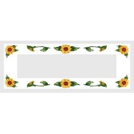 Table runner with sunflowers - Cross Stitch pattern