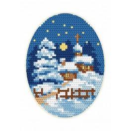 Christmas card- Church - Cross Stitch pattern