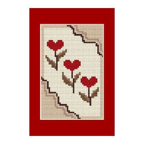 Occasional card - Hearts - Cross Stitch pattern