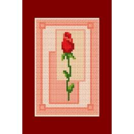 Valentine's day- Rose - Cross Stitch pattern