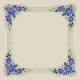 Table-cloth with clematis - Cross Stitch pattern