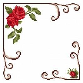 Small napkin - Roses - Cross Stitch pattern
