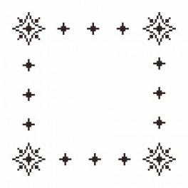 Small napkin - Roe-deers - Cross Stitch pattern