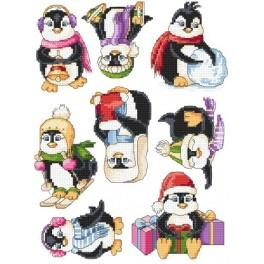 Happy penguins - Cross Stitch pattern