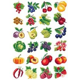 Fruit madness - Cross Stitch pattern
