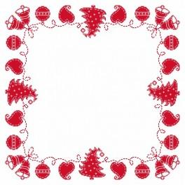 Napkin – Christmas embroidery - Cross Stitch pattern