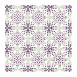 Tableclothwithviolets - Cross Stitch pattern