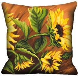 Pillow with sunflowers - Cross Stitch pattern