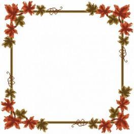 Napkin - Autumn leaves - Cross Stitch pattern