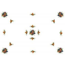 Tablecloth - Pansys - Cross Stitch pattern