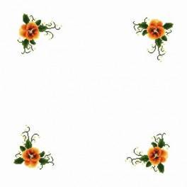 Napkin - Pansys - Cross Stitch pattern
