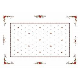 Tablecloth - Roses - Cross Stitch pattern