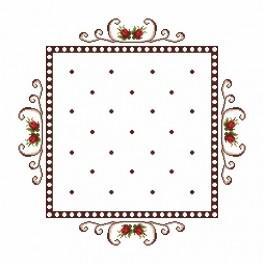 Napkin - Roses - Cross Stitch pattern