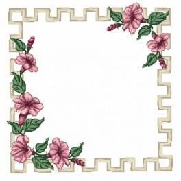 Napkin - Clematis - Cross Stitch pattern