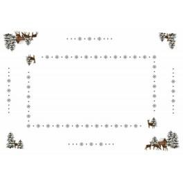 Tablecloth - Roe-deers - Cross Stitch pattern