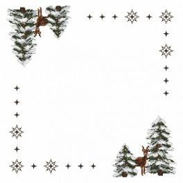 Napkin - Roe-deers - Cross Stitch pattern