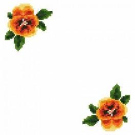 Small napkin - Pansys - Cross Stitch pattern
