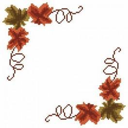 Small napkin - Autumn leaves - Cross Stitch pattern