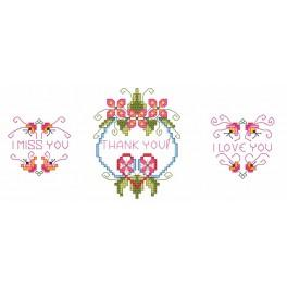 Love telegrams - Cross Stitch pattern