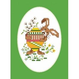 Easter postcard - Bunny - Cross Stitch pattern