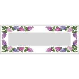 Runner with colourful lilac - Cross Stitch pattern