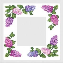 Napkin with colourful lilac - B. Sikora - Cross Stitch pattern