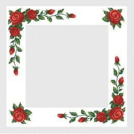 B.Sikora - Table-cloth with red roses - Cross Stitch pattern