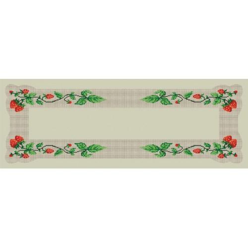 Runner with strawberies - Cross Stitch pattern