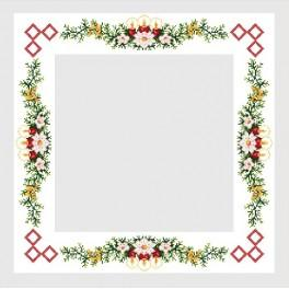 Table-cloth with red candles - Cross Stitch pattern