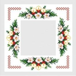 Napkin with the red candles - Cross Stitch pattern