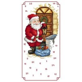 Adwent calendar - Santa Claus with the gifts - Cross Stitch pattern