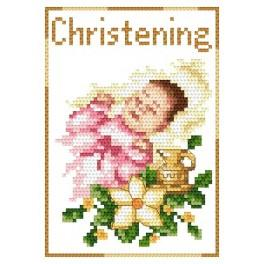 GU 4425-01 Cross stitch pattern - Rememberance of baptism - Girl